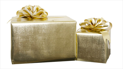 Example of a Gift Wrapped Order