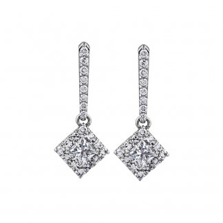 0.54ct Diamond Drop Earrings in 9ct White Gold