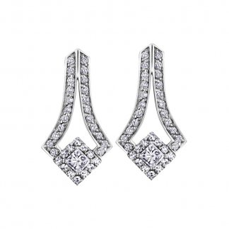 0.5ct Diamond Drop Earrings in 9ct White Gold
