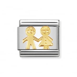 18ct Gold Classic Children Charm