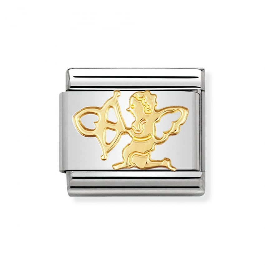 Nomination Composable 18ct Gold Classic Cupid Charm 030116/07