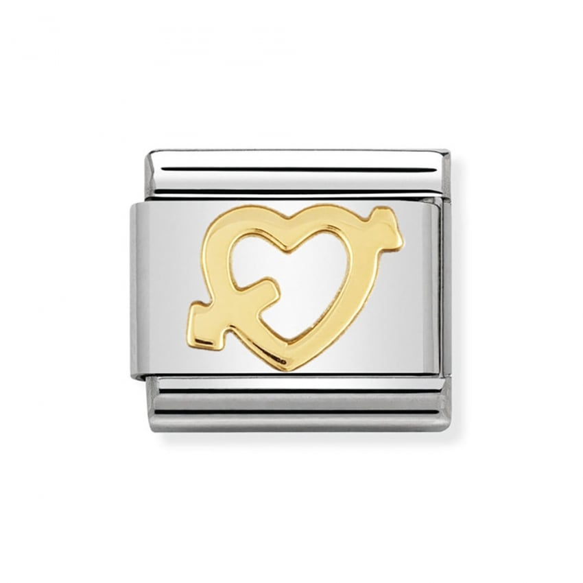 Nomination Composable 18ct Gold Classic Heart and Arrow Charm 030116/09