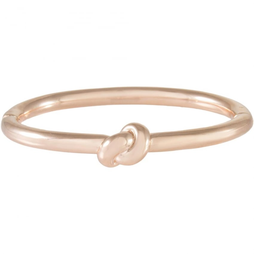 Bronzallure 18ct Rose Plated Hinged Knot Bangle WSBZ00488.R