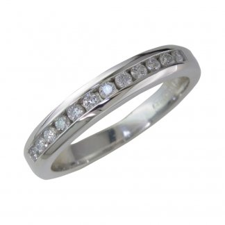 18ct White Gold 0.50ct Diamond Set Eternity Band 207403