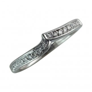 18ct White Gold 0.50ct Shaped Eternity Band 206166