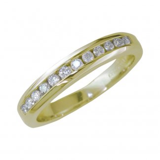 18ct Yellow Gold 0.33ct Diamond Set Eternity Band 207360