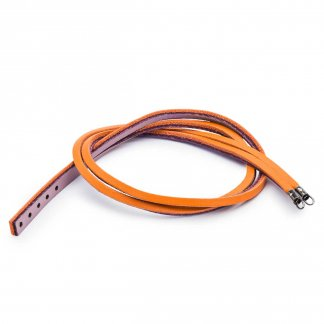 34cm Leather Bracelet - Pumpkin/Grape