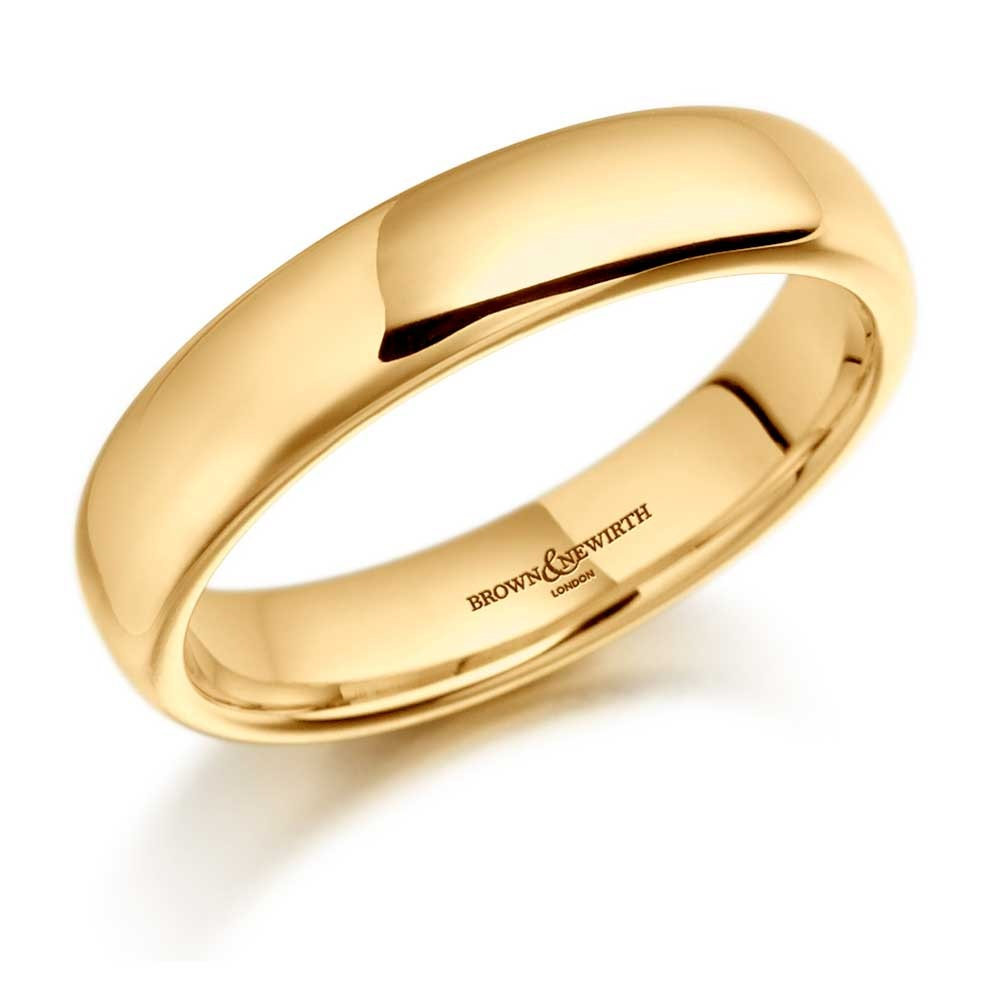 Brown & Newirth 6mm Heavier Court Men's 18ct Yellow Gold