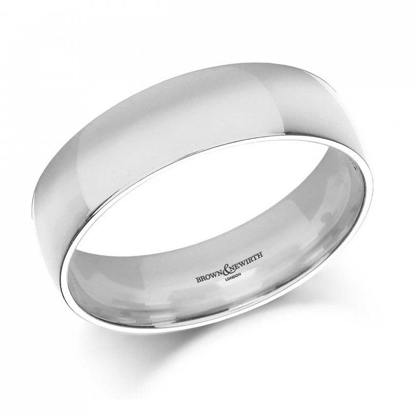 Brown Amp Newirth 6mm Lightweight Court Mens Palladium 500 Wedding Ring