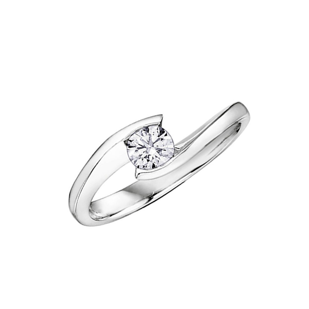 9ct white gold diamond solitaire ring francis amp gaye