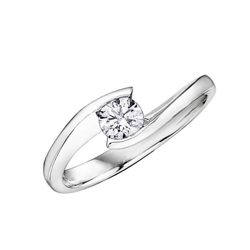 Francis & Gaye 9ct White Gold 0.10ct Diamond Solitaire Ring 101076