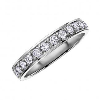 9ct White Gold 0.15ct Diamond Half Eternity Ring 107028