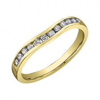 9ct White Gold 0.25ct Channel Set Diamond Band