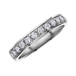 9ct White Gold 0.25ct Diamond Half Eternity Ring 107027