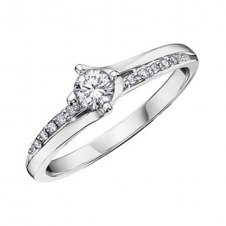 9ct White Gold 0.29ct Diamond Solitaire Ring