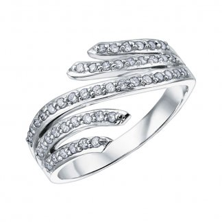 9ct White Gold 0.30ct Diamond Spray Eternity Ring 105024