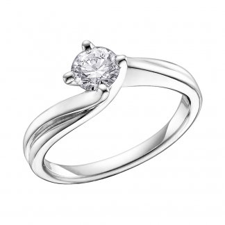 9ct White Gold 0.33ct Diamond Solitaire Ring 101078