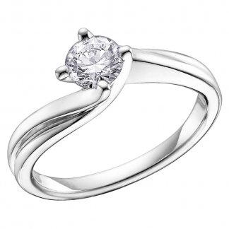 9ct White Gold 0.40ct Diamond Solitaire Ring 1799WG/40