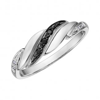 Diamond Twist 9ct White Gold Eternity Ring 107048