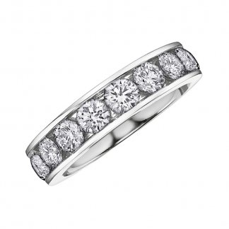 9ct White Gold Half Eternity 1 Carat Diamond Ring 107039