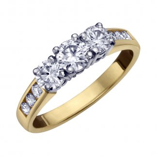 9ct Yellow Gold 0.33ct Diamond Cluster Ring