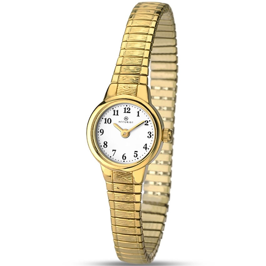 Accurist Classic Ladies Gold Plated Expander Watch 8050