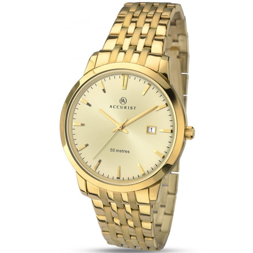 Accurist Gent's Gold Plated Classic Quartz Watch 7019
