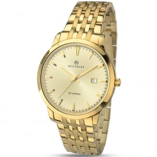Gent's Gold Plated Classic Quartz Watch