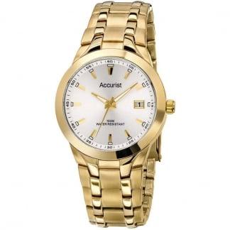 Gold Tone Gent's 100M Quartz Watch MB858S