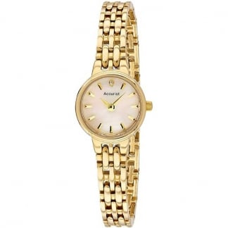 Gold Plated Ladies Watch With MOP Dial