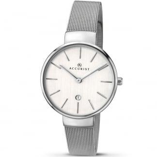 Ladies Silver Tone Mesh Bracelet Watch 8080