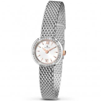Ladies Classic Quartz Watch With Rose Gold Detail