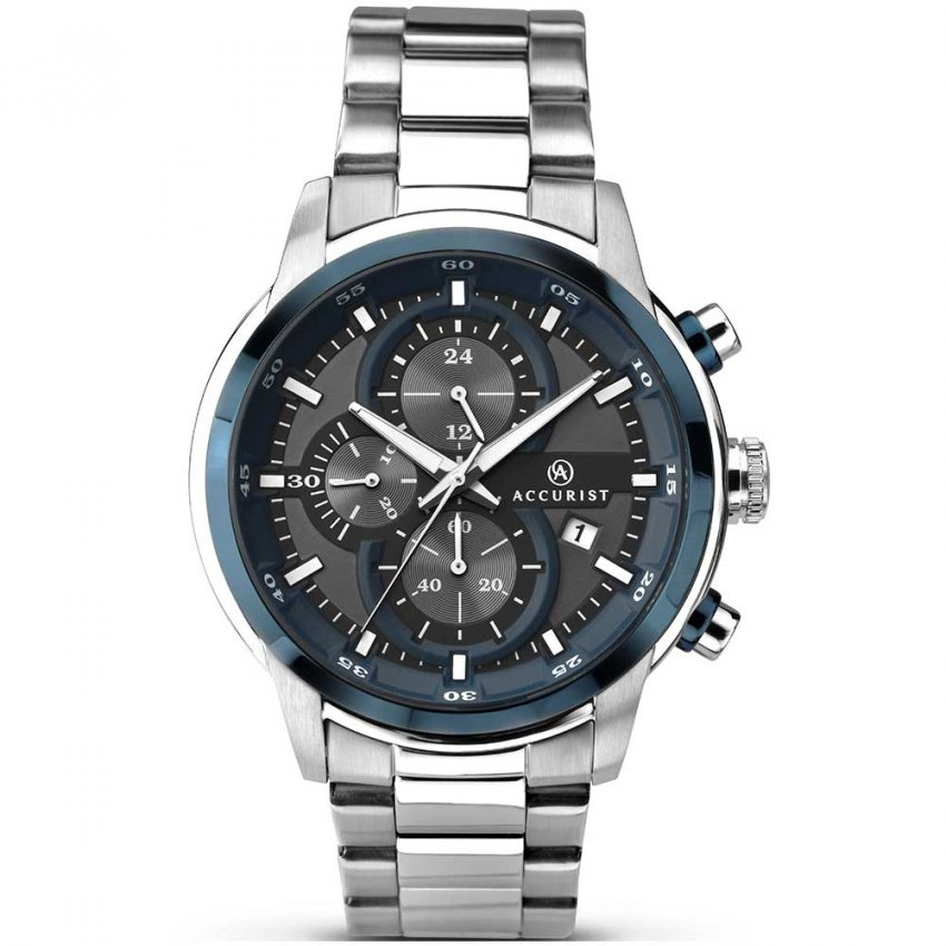 Accurist Men's Chronograph Watch With Blue Detailing 7039