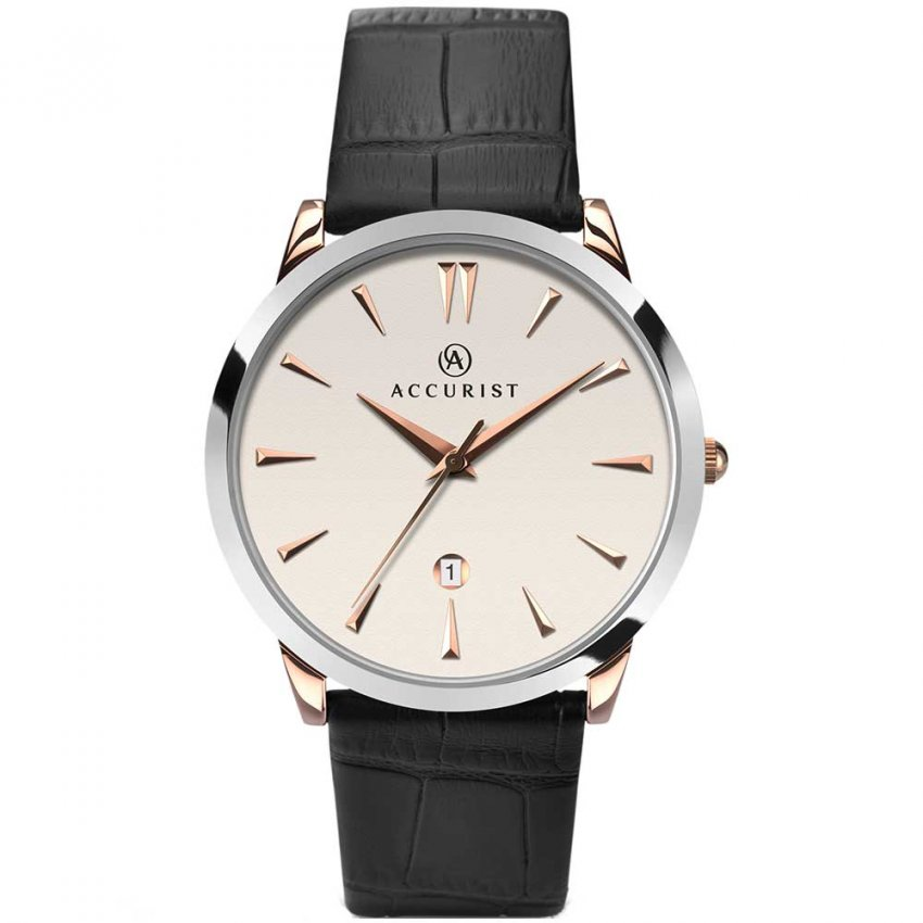 Accurist Men's Classic Leather Strap Watch 7028