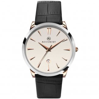 Men's Classic Leather Strap Watch 7028