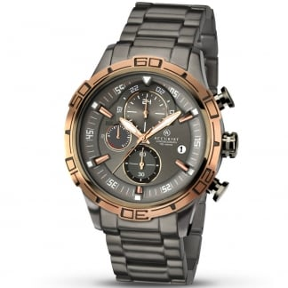 Men's Graphite Grey Chronograph Watch