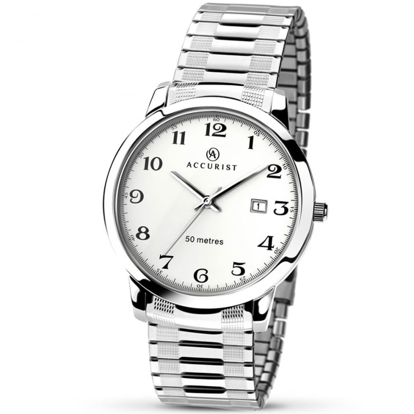 Accurist Men's Silver Tone Expander Watch 7080