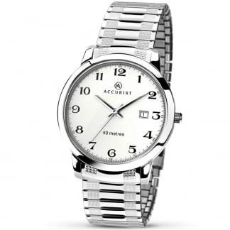 Men's Silver Tone Expander Watch 7080