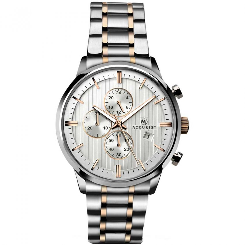Accurist Men's Two Tone Chronograph Watch 7035