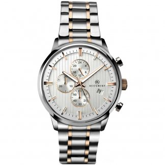 Men's Two Tone Chronograph Watch