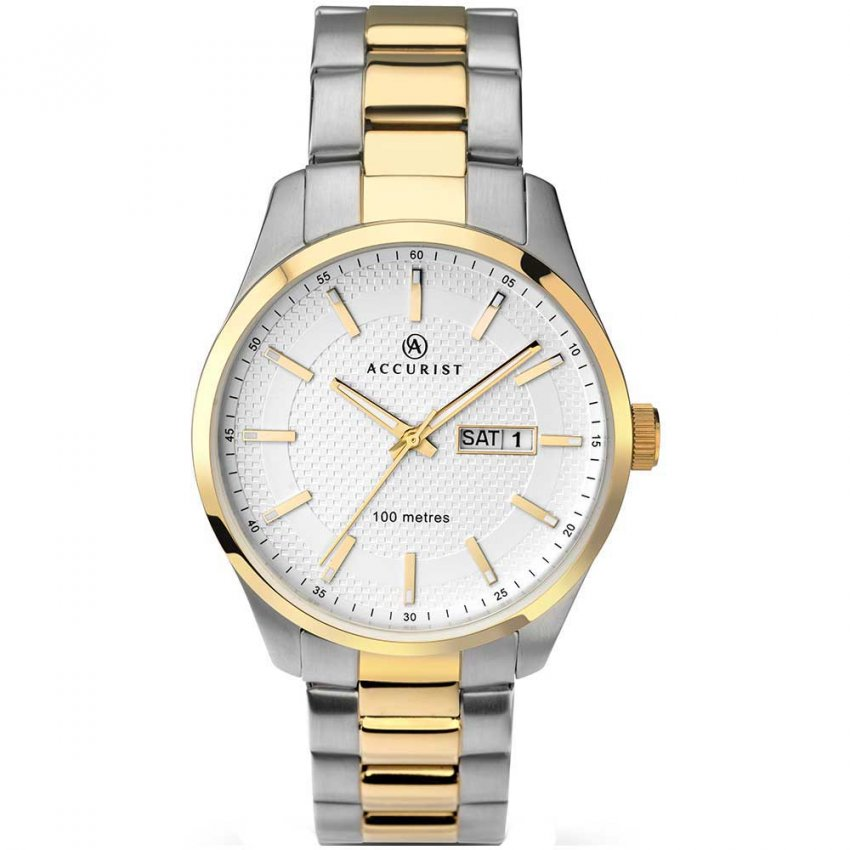 Accurist Men's Day/Date Two Tone Quartz Watch 7057