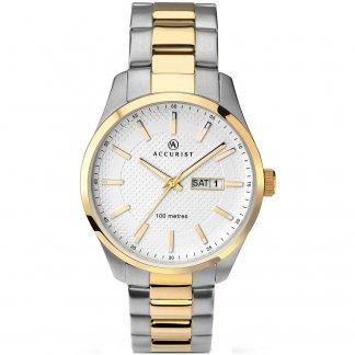 Men's Day/Date Two Tone Quartz Watch 7057