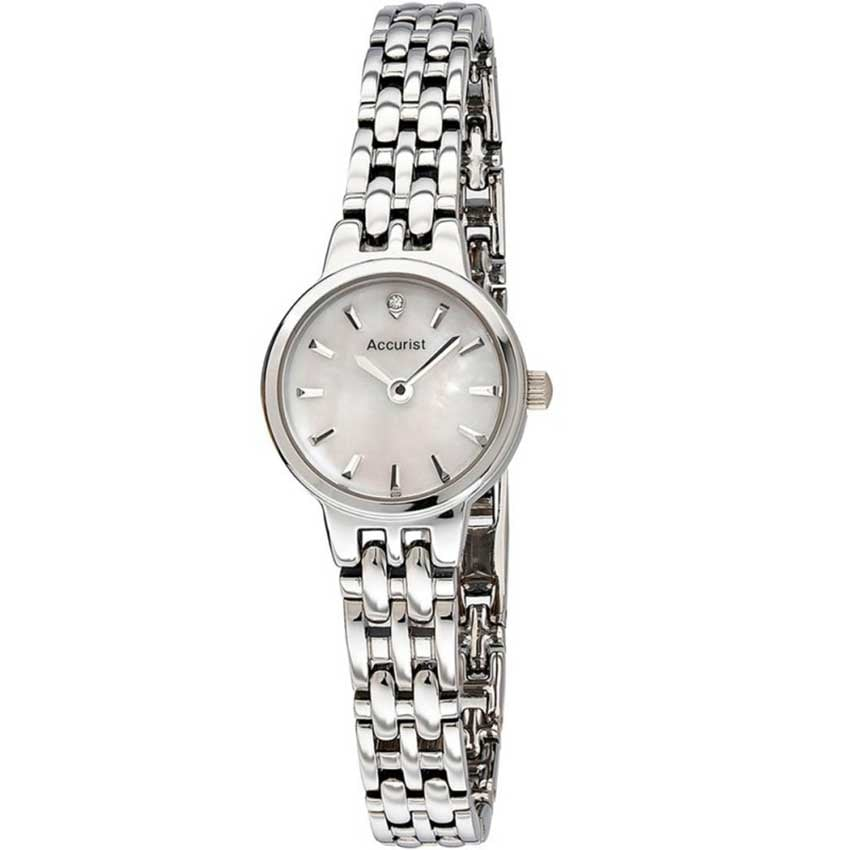 Accurist Stainless Steel Ladies Watch With MOP Dial LB1407P