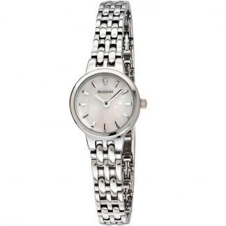Stainless Steel Ladies Watch With MOP Dial