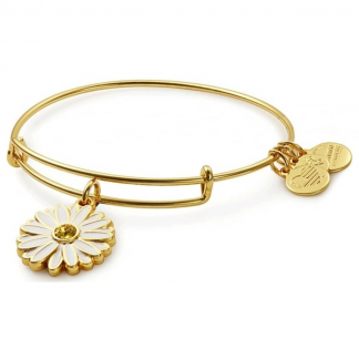 Gold Daisy Charm Bangle