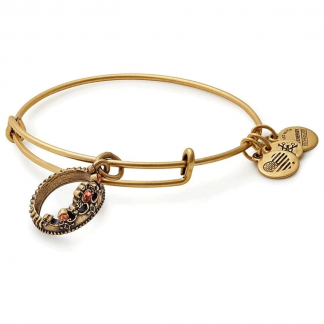 Gold Queens Crown Bangle