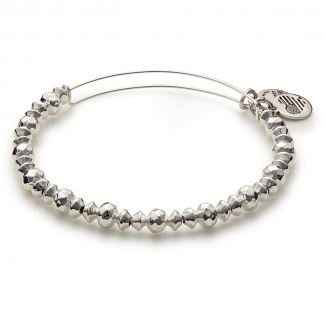 Shiny Silver Beaded Canyon Bracelet