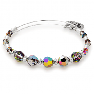 Shiny Silver Swarovski Crystal Bangle