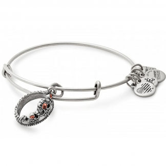 Silver Queens Crown Bangle