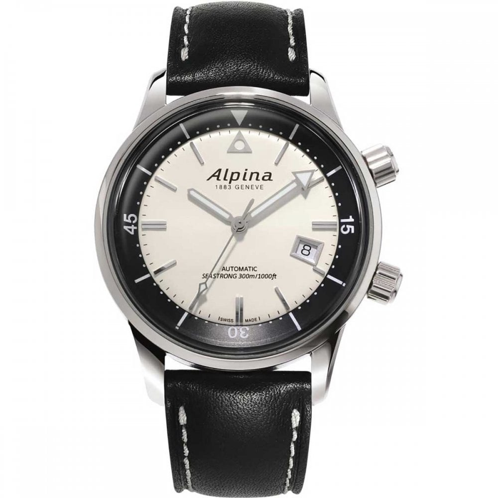 Alpina Mens Seastrong Diver Heritage M Automatic Watch Watches - Alpina geneve